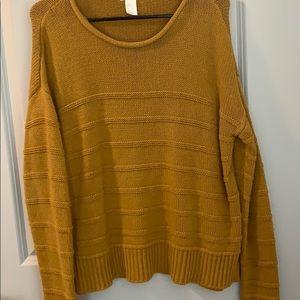 Mustard Yellow H&M Thick Knit Sweater